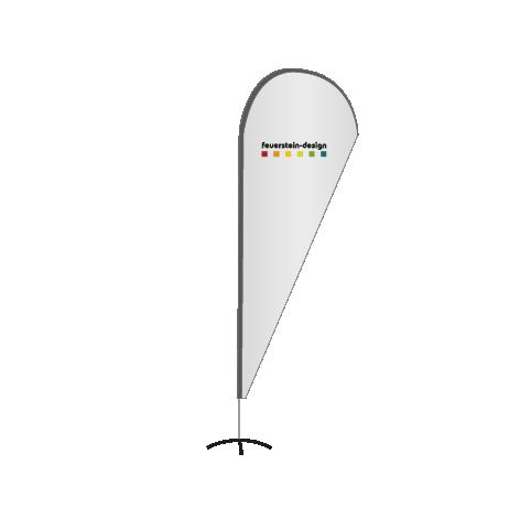 WEF-06 mit MOTIV Flammkuchen Beachflag inkl Gestaltung
